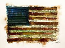 Original Drawing with Frame - Old Glory - Memorial Day - Art by SLAZO - 16x20
