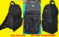 DELUXE SLING BACKPACK BAG CASE fit CAMERA NIKON SLR D40 D50 D60 D70 D80 D90
