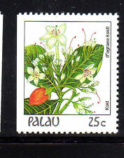 PALAU  #133  1987-88  FLOWERS  MINT  VF NH  O.G  BOOKLET SINGLE  c