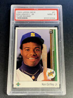 KEN GRIFFEY JR 1989 UPPER DECK #1 STAR ROOKIE RC MINT PSA 9 MARINERS HOF (H)