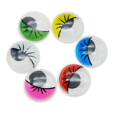 50-Pack Plastic Googly Eyes Assorted Colors DIY Doll Making Eyes Animal Craft