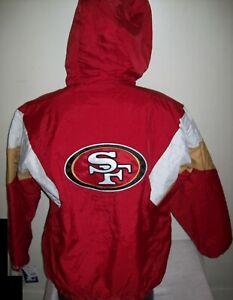 Fall 2020: SAN FRANCISCO 49ERS STARTER Hooded Jacket  3X 4X 5X
