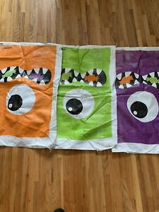 Lot 3 Boo Crew Potato Sacks Haunted House Carnival Halloween  Game Race Amscan