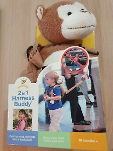 NEW Goldbug 2 in 1 Safety Harness Buddy Harness Strap Toddler Walking Backpack