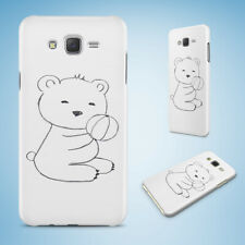 SAMSUNG GALXY J SERIES PHONE CASE BACK COVER|TEDDY BEAR SKETCH ART DRAWING #3