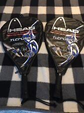 2 Head Titanium TI.Crush II Racquetball Racquets. Sudsy Monchik