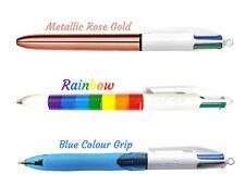 BIC 4 Multi Colour Shine Metallic Matt Ballpoint Pen 3 Assorted Barrel Colours