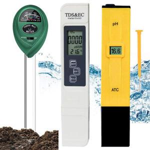 Digital Electric PH/TDS&EC Meter Tester Conductivity Hydroponics Water Test Pen