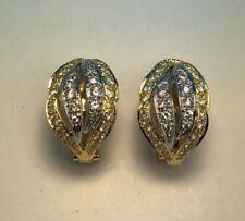 Echte Omegaverschluss Ohrschmuck im Creole-Stil aus mehrfarbigem Gold
