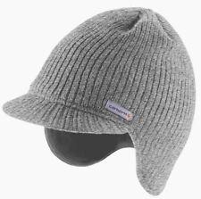 Carhartt Knit Visor Hat   Heather Gray Lined Fleece   100% Authentic