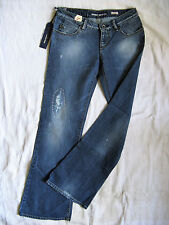 Miss Sixty extra low Ty Blue Jeans elástico w28/l30 low waist slim fit Flare leg