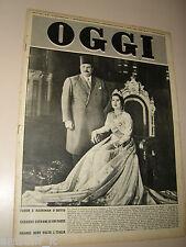 OGGI=1951/42=RE FARUK NARRIMAN SADEK=VINCENZO AGNESINA=RUGGERO GIOVANNI PASCOLI=