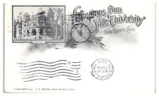 1911 Greetings from Yale University, New Haven, CT Postcard