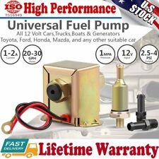 Electric Fuel Pump 12V Low Pressure 2-4 PSI Petrol Diesel Universal Facet style