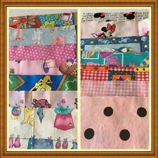 Fabric Pre Cuts 6 1/2 inch squares Novelty Girls 48 pcs 100% Cotton Several Dup