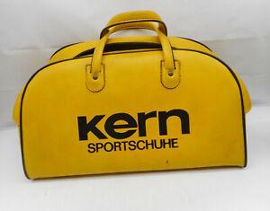 """Vintage Sporttasche Reisetasche """"Kern Sportschuhe"""" Gelb ~ 1960/70 Jahre"""