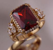 Gold Filled Garnet Fashion Rings