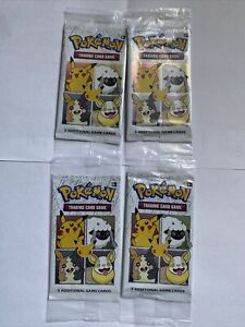 (Lot of 4) Pokemon TCG General Mills 25th Anniversary 3-Card Pack - Fast Ship!!