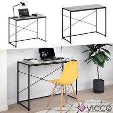 VICCO Loft Schreibtisch Fyrk Bürotisch Arbeitstisch PC Tisch Beton 100 x 45