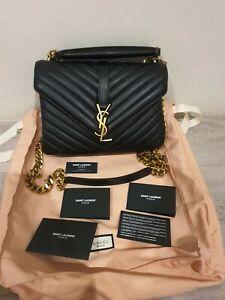 AUTHENTIC Saint Laurent College Medium Leather Bag - almost brand new condition