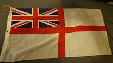 White Ensign British flag. Made by Porter Bros Ltd of Liverpool. 52 by 27 inches