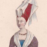 Portrait Bonne De Berry Comtesse de Savoie Comtesse de Carlat Capétiens Valois