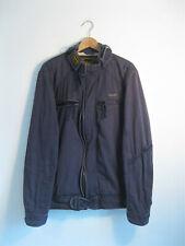 SUPERDRY | Men's SUPER 8 Blue Heavy Cotton Motorcycle Biker Jacket | XL
