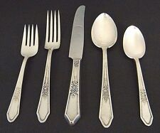 5Pc R & B A1 INTERNATiONAL ROSEDALE SiLVER PLATE PLACE SETTiNG FORK SPOON KNiFE