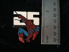 SPIDERMAN 25th Anniversary button pin back 1986 Vintage