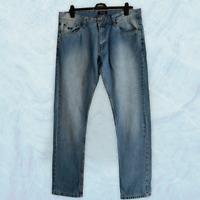 Splash Indigo Mens Denim Jeans Size W34 L31 Blue Trousers Straight Legs Pants