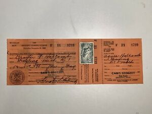 US 1948 Michigan 1$ Trout Stamp Fishing Permit Resident License b16.z