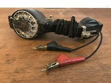 Vintage Beco Butt Linemans Rotary Dial Telephone Test Set with J.S. Hopper Clips