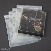 100 Pochettes de Protection pour CD avec rabat, épaisseur 38 My (13,8x14,5+4 cm)