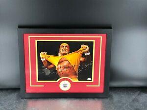 Hulk Hogan WWE Wrestling Autographed Framed 22.25x18.25 JSA COA