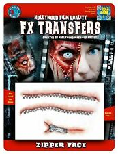 Tinsley Transfers 3D FX Transfers Zipper Face Halloween Skin Peel Zip Flesh