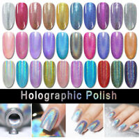 BORN PRETTY Holographic Nail Polish Laser Glitter Varnish Tips Design Shiny Pink