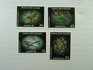 1986 Papua New Guinea SC #645-648 MNH stamps