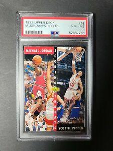 1992 Upper Deck Michael Jordan/Scottie Pippen #62 PSA 8