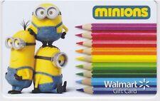WalMart Minions Bob Kevin Stuart Colored Pencils School 2015 Gift Card FD-47668