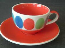 BRIGHT HANDPAINTED WHITTARD OF CHELSEA COFFEE CUP & SAUCER - OVALS
