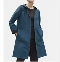 NWT Eileen Fisher ORGANIC COTTON NYLON REVERSIBLE HOODED JACKET STORM Size PM