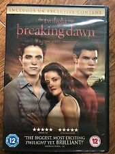 Robert Pattinson Kristen Stewart TWILIGHT SAGA - BREAKING DAWN PART 1 | UK DVD