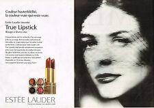 PUBLICITE ADVERTISING 045  1996  ESTEE LAUDER rouge à lèvres (2p)TRUE LIPSTICK