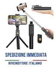 BASTONE SELFIE TREPPIEDI ASTA BLUETOOTH +TELECOMANDO TRIPOD iphone android