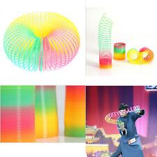 1Pcs Magic Slinky Plastic Rainbow Springs Bounce Children FunToy Birthday Gift ^