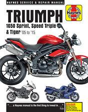 Triumph 1050 Sprint Speed Triple Tiger Repair Manual 2005-2015