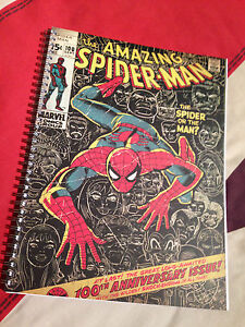 Spiderman Retro  A4 Work Book - Lined Paper