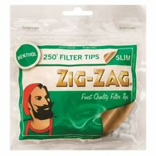 Zig-Zag Menthol Slim Filters Quality Rolling Tobacco/Cigarette Tips X 250