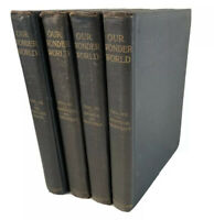 Antique Lot Of 4: 1918 Our Wonder World Geo L Shuman Vol 3-4, 6-7 Nature Sports