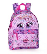 Girls Backpack School Bag Rucksack Travel Bag Purple Smile PREMIUM FASHION GIRL